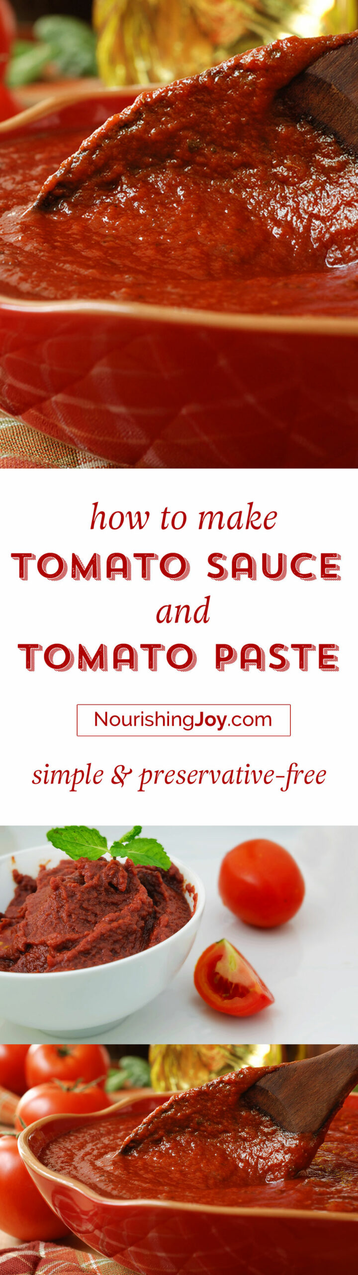 Knowing how to make homemade tomato sauce and how to make tomato paste can make your life so much easier during tomato season. And the fresh taste is unparalleled!