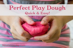 Perfect Play Dough - quick and easy | NourishingJoy.com