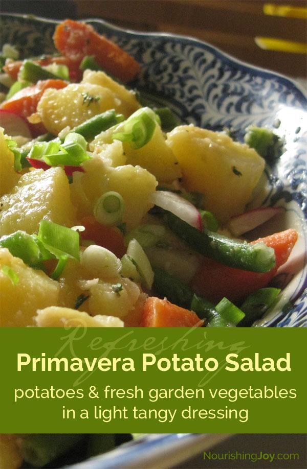 Primavera Potato Salad - a celebration of fresh garden vegetables!