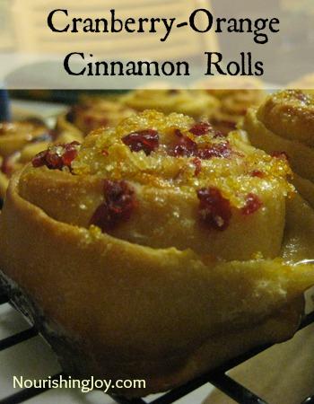 Cranberry Orange Cinnamon Rolls | NourishingJoy.com