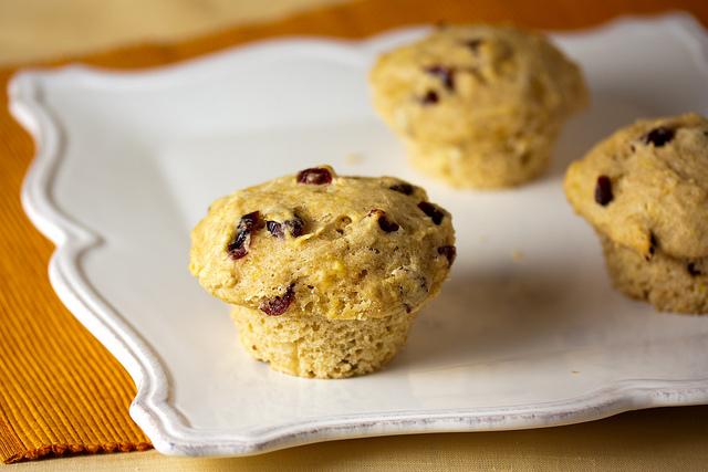 Cranberry-Orange Sourdough Muffins