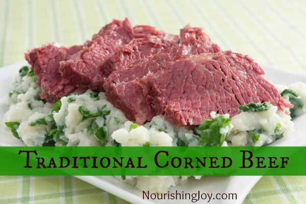 Homemade Traditional Corned Beef - healthy and scrumptious! | NourishingJoy.com
