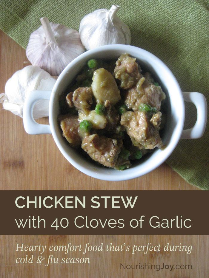 Chicken Stew with 40 Cloves of Garlic
