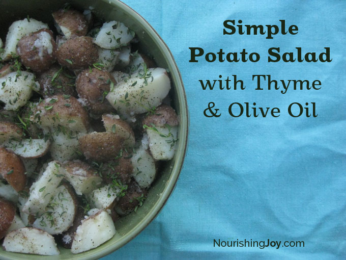 Simple Potato Salad with Thyme and Olive Oil