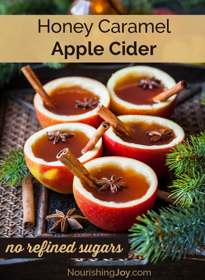 Honey Caramel Apple Cider | a nourishing, comforting treat on cold autumn nights!