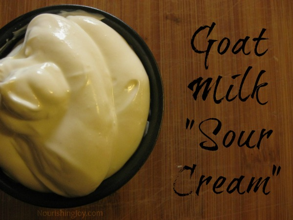 how to make goat milk sour cream