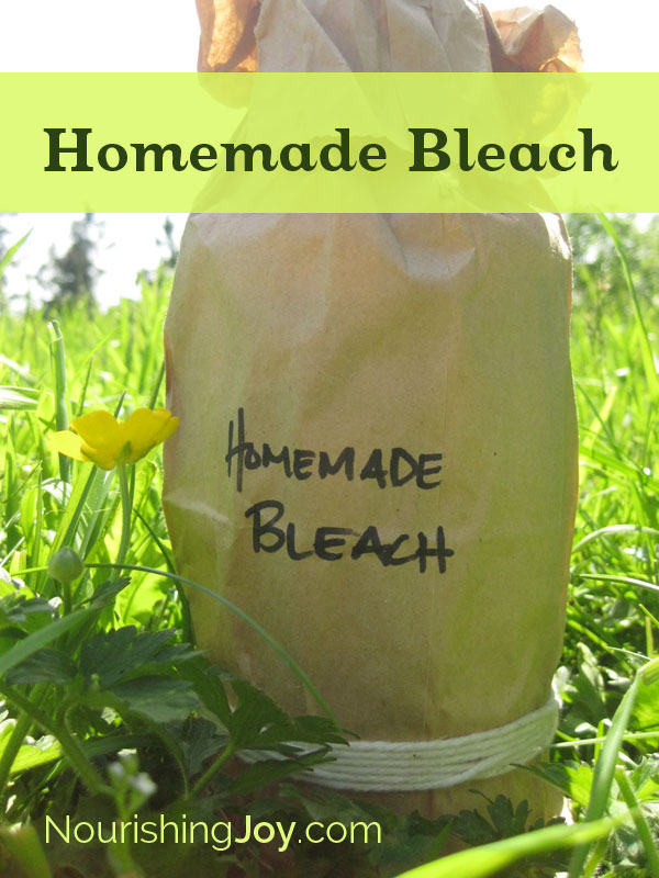 Homemade Bleach - for laundry, cleaning, and MORE! | NourishingJoy.com