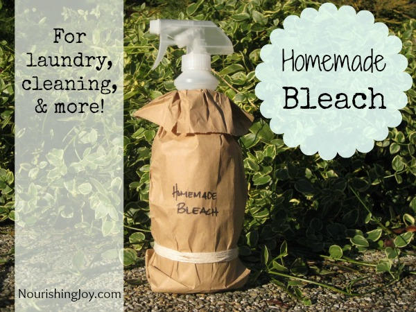Homemade Bleach from NourishingJoy.com
