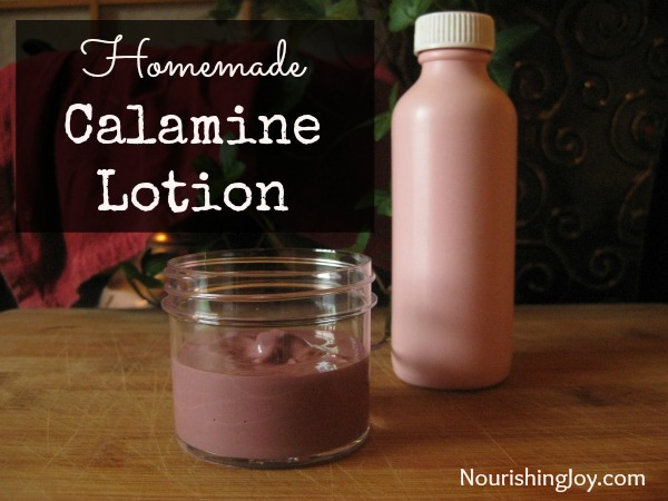 Homemade Calamine Lotion from NourishingJoy.com