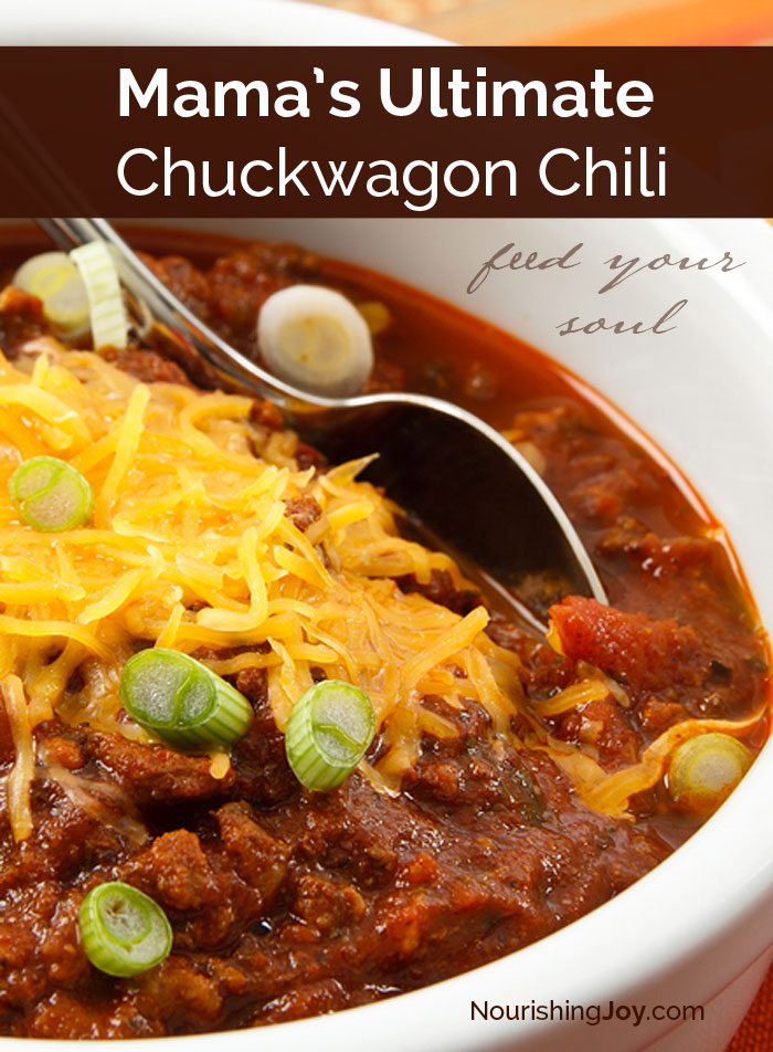 The chuckwagon chili that nourishes you DEEPLY - in both body and soul!