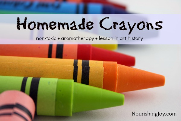 How to Make Non-Toxic Crayons (and a lesson in art history) | NourishingJoy.com