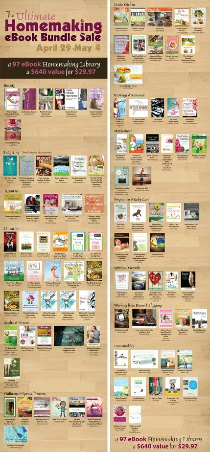 The Ultimate Homemaking eBook Bundle Sale - ends today!