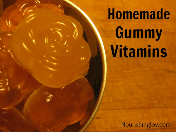 Homemade gummy vitamins - quick and easy! from NourishingJoy.com