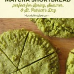 Make green matcha shortbread for St. Patrick's Day or any other occasion that needs a yummy, healthy sweet. :)
