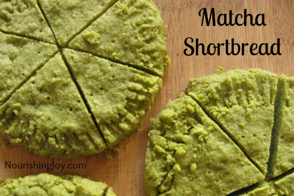 Matcha Shortbread (Green Tea Shortbread) from NourishingJoy.com