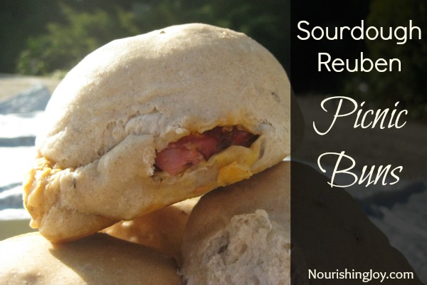 Sourdough reuben picnic buns from NourishingJoy.com