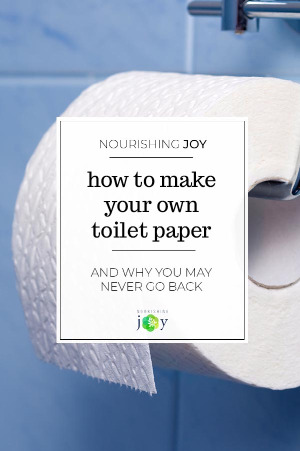 "Making your own toilet paper may seem so ""way out there,"" but once you try it, you realize how simple and sensible it really is. Besides, it saves a ton of money. :)"