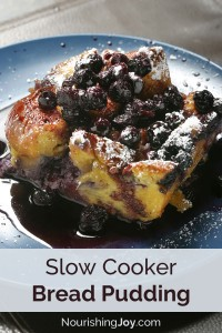 Bread Pudding in the slow cooker! It's perfect for lazy days and rushed mornings.