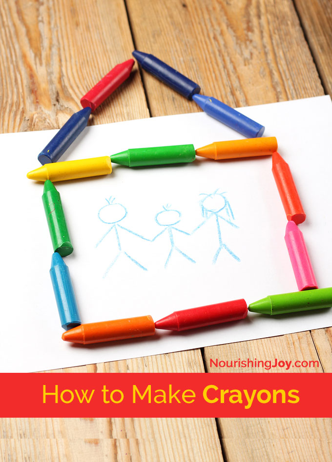 Coloring Book And Crayons In Bulk : How to make crayons nourishing joy