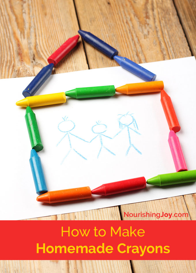 How to make homemade crayons - plus an unexpected lesson in art history....