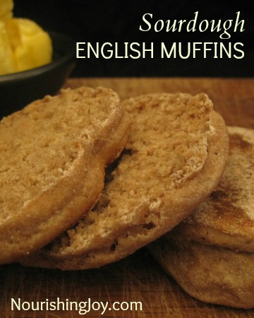 Sourdough English Muffins | NourishingJoy.com