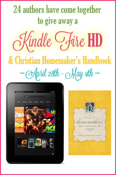 Win a Kindle Fire! Ends May 4 | NourishingJoy.com