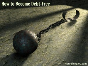 """How to Become Debt-Free with """"From Debtor to Better""""   NourishingJoy.com"""