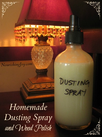 Homemade Dusting Spray and Wood Polish | NourishingJoy.com