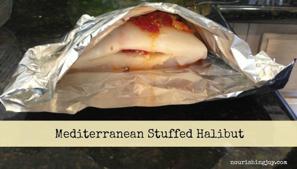 Mediterranean Stuffed Halibut | NourishingJoy.com