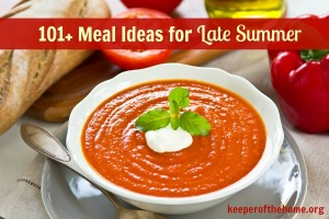 101 meal ideas for late summer