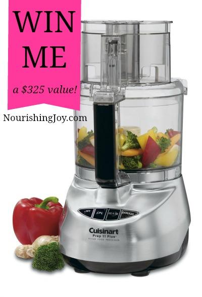 GIVEAWAY: 11-cup Cuisinart Food Processor ($325 value) | NourishingJoy.com