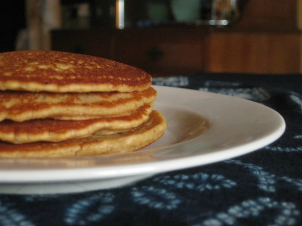 Peanut Butter and Jelly Sourdough Pancakes