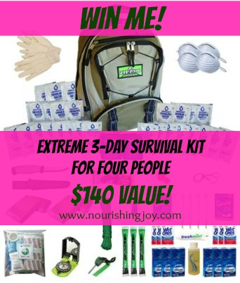 Win an EXTREME Survival Kit for (4) people! $140 value