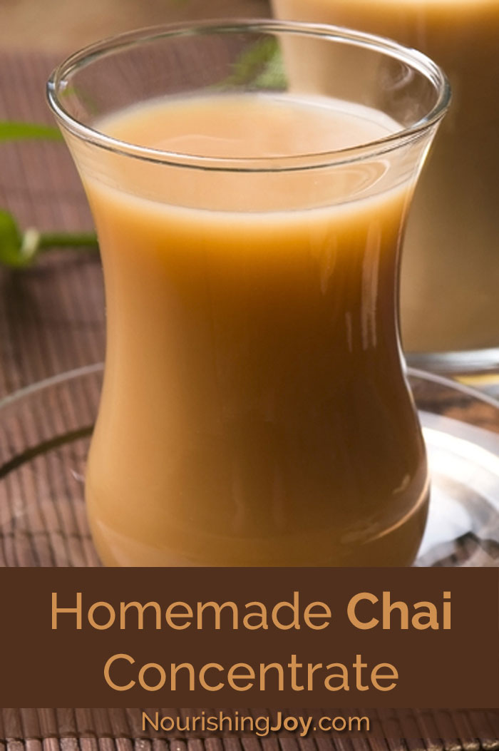 Warm up with this delicious homemade chai concentrate