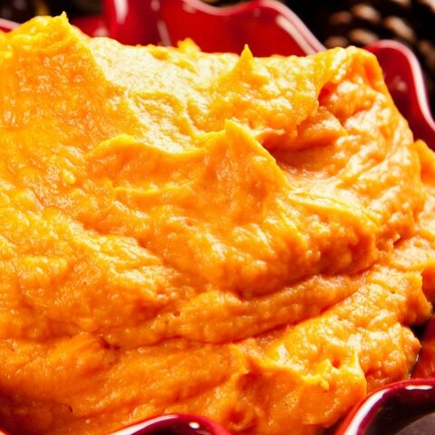 Making pumpkin puree in the slow cooker makes the this almost as easy as opening a can of pumpkin puree