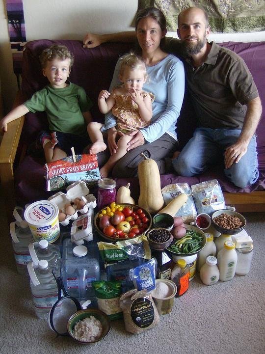 How much does your family eat in a week? One family's story…