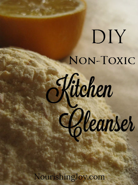 DIY non-toxic kitchen cleanser   NourishingJoy.com