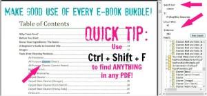 Make GOOD use of any and every e-book bundle!