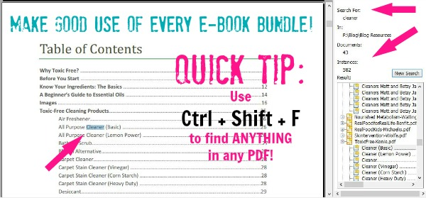 Make GOOD use of any and every e-book bundle!
