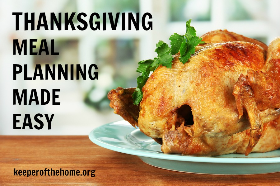 Thanksgiving Meal Planning Made Easy