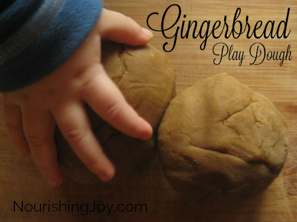 Gingerbread Play Dough | NourishingJoy.com