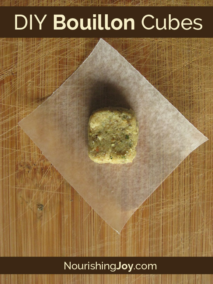 DIY Bouillon Cubes - yes, you CAN make them at home and avoid all the MSG and other nasties!