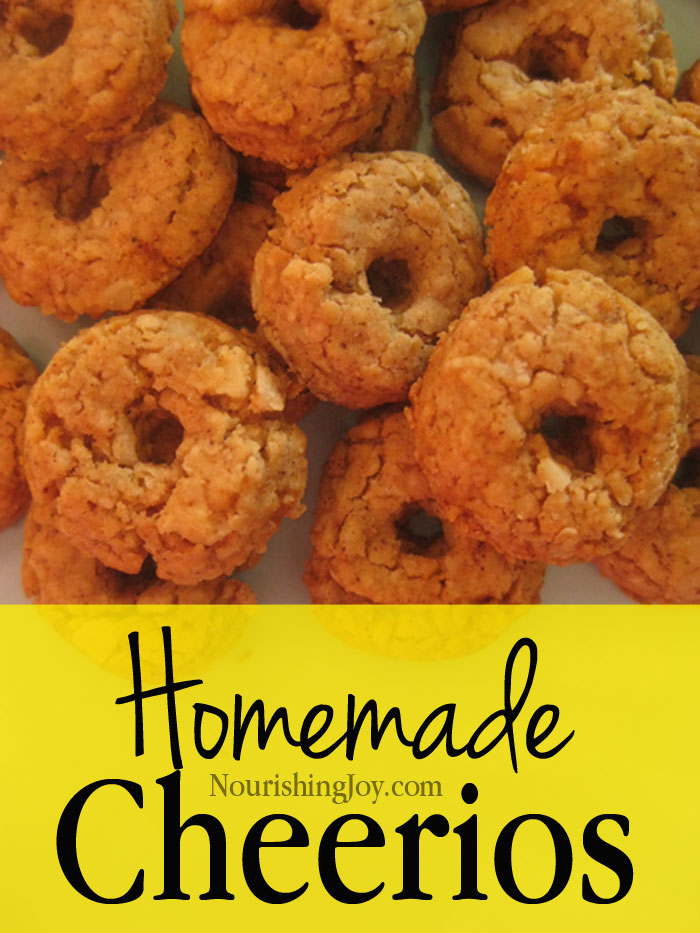 Homemade Cheerios | NourishingJoy.com