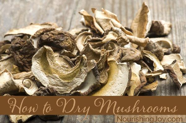 How to Dry Mushrooms   NourishingJoy.com