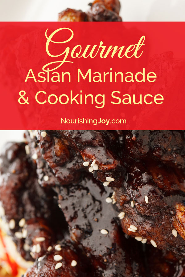 Better-than-Yoshida's Gourmet Asian Marinade and Cooking Sauce - yum yum yum! | NourishingJoy.com