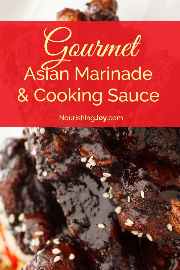 Better-than-Yoshida's Gourmet Asian Marinade and Cooking Sauce - yum yum yum!   NourishingJoy.com