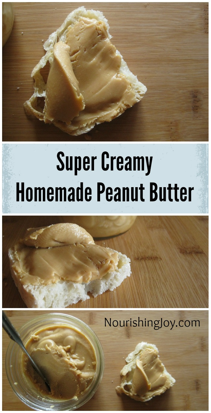 Super Creamy Homemade Peanut Butter | NourishingJoy.com