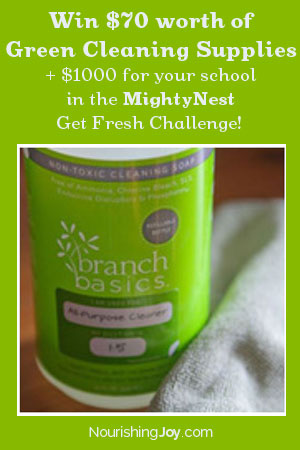 Win $70 worth of Green Cleaning Supplies + $1000 for your school in the MightyNest Get Fresh Challenge!