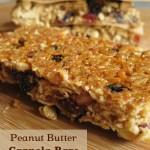 Perfect Homemade Granola Bars with a peanut butter version | NourishingJoy.com