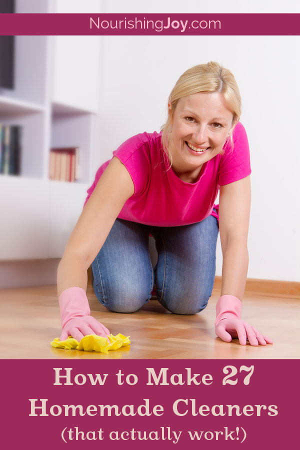 How to Make 27 Homemade Cleaners